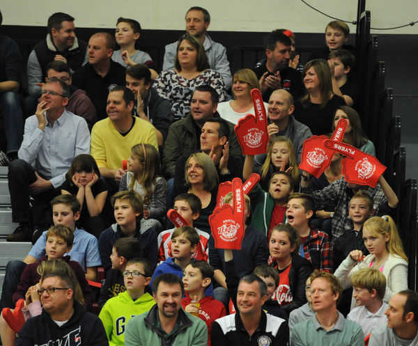 Bristol Flyer fans - Photo mandatory by-line: Dougie Allward/JMP -29/11/2014 - SPORT - Basketball - Bristol - SGS Wise Campus - Bristol Flyers v Newcastle Eagles - British Basketball League