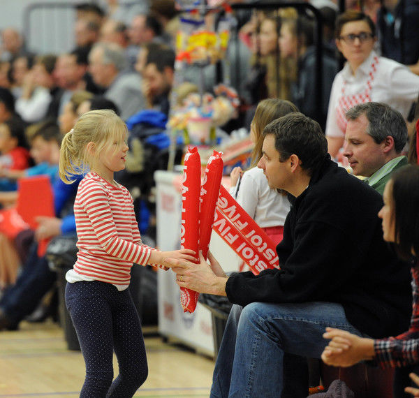 Bristol Flyers fans - Photo mandatory by-line: Dougie Allward/JMP - Mobile: - 29/11/2014 - SPORT - Basketball - Bristol - SGS Wise Campus - Bristol Flyers v Newcastle Eagles - British Basketball League