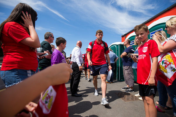 Frankie Fielding of Bristol City arrives - Rogan/JMP - 09/07/2017 - The Creek - Bristol, England - Bristol Manor Farm v Bristol City - Pre-season Friendly
