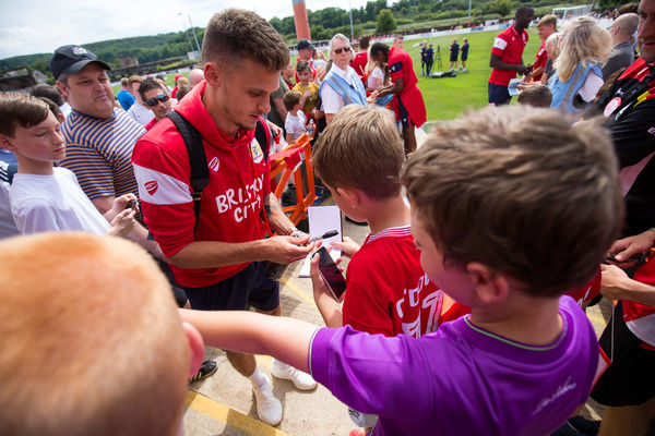 Jamie Paterson of Bristol City meets fans - Rogan/JMP - 09/07/2017 - The Creek - Bristol, England - Bristol Manor Farm v Bristol City - Pre-season Friendly