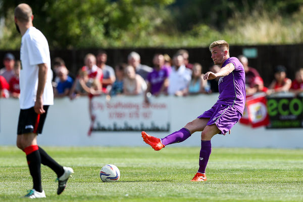 Taylor Moore of Bristol City in action - Rogan/JMP - 09/07/2017 - The Creek - Bristol, England - Bristol Manor Farm v Bristol City - Pre-season Friendly