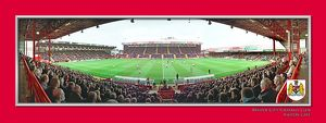 Bristol City FC Ashton Gate Match in Action Framed Print
