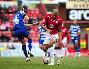 Chris Iwelumo battles with James Coppinger