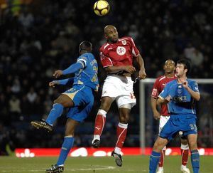 Dele Adebola gets above Sol Campbell