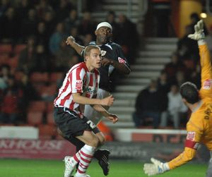 Dele Adebola hits the post befor lee johnson follows up to score