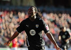 Evander Sno celebrates scoring the second goal for