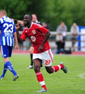 GOAL CELEBRATIONS for Bristol City's Albert Adomah