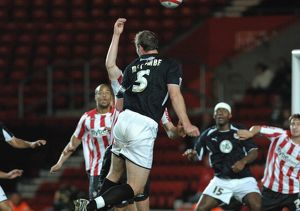 Jamie McCombes header hits the hand of defender alex pearce