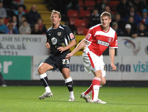 Lee Trundle shoots past Charlton defender Martin Cranie