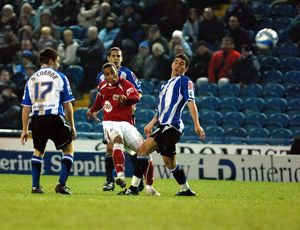 Nicky Maynard sees his shot fly just over